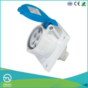 Cee IEC IP44 Straight Panel Mounted Industrial Plug Socket Electrical Connector pictures & photos