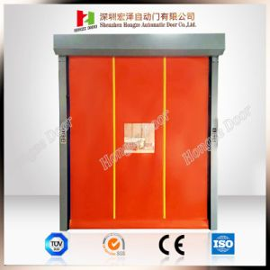 Zinc Coated Steel Frame High-Density High Speed Roll up PVC Fast Glass Door (Hz-HSD03) pictures & photos