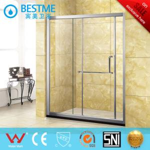 Double Sliding Doors Aluminum-Alloy Shower Partition (BL-L0009-P) pictures & photos