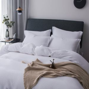 Oeko Certified 100% Cotton Waffle Weave Bedding White Duvet Cover Set pictures & photos