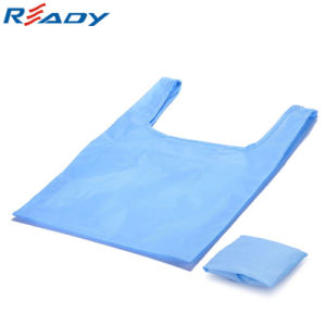 Blue Polyester Folding Shopping Bag pictures & photos