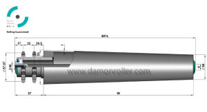 Internal Thread Sprocket Steel Tapered Conveyor Roller (2521) pictures & photos
