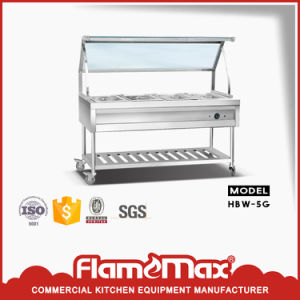 6-Pan Bain Marie Trolley with Galss Top (HBW-6G) pictures & photos