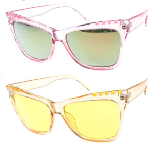 Promotion Comfortable Plastic Injection Colorful Lens Sun Glasses pictures & photos