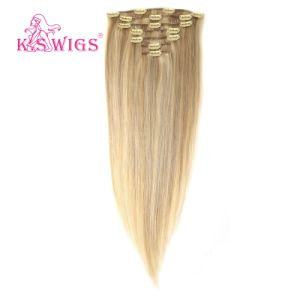 Brazilian Clip-in Remy Keratin Human Hair Extension pictures & photos
