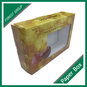 Flat Packaging Fruit Box with PVC Window pictures & photos