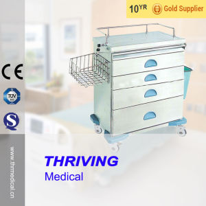 Thr-Zy104-II Cheap Stainless Steel Hospital Anesthesia Cart pictures & photos