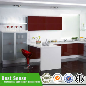 Guangzhou Lacquer Kitchen Cabinet pictures & photos