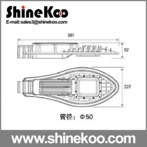 Tennis Surface Plate Third Gengeration 60W LED Street Light Housing pictures & photos