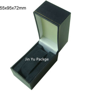 Luxury Handmade Black Leather Gift Watch Jewelry Packaging Box pictures & photos