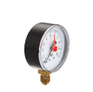 ABS Case 0-10bar High Quality 60mm Red Pointers Bottom Type Brass Bourdon Tube Pressure Gauge pictures & photos