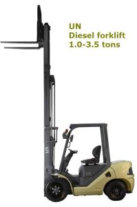 Un 2.5t 2500kg Yellow Diesel Forklift with Chinese Xinchai A498 Engine and Triplex 7.0m Mast (FD25) pictures & photos