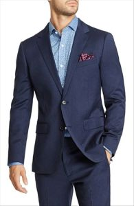 OEM Latest Design Men′s Fashion Business Fit Stretch Suits pictures & photos