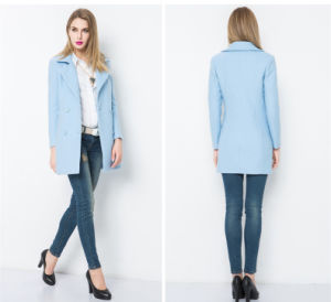 2016 New Style Ladies Long Coat Design Brand Name Coats pictures & photos