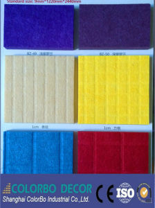 Excellent Sound Absorbing Cotton Polyester Fiber Acoustic Panel pictures & photos