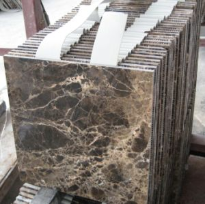 Chinese Dark Emperador Marble Tile for Flooring/Wall Cladding pictures & photos