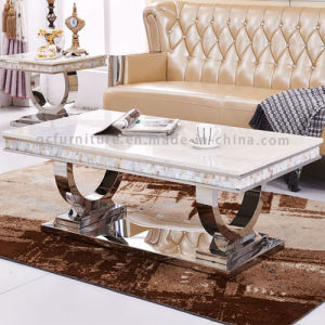 2016 Newest Modern Design Stainless Steel Frame Marble Coffee Table pictures & photos