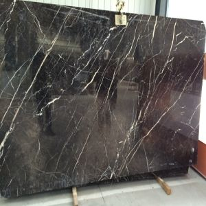 Polished China Gold Jade Brown Marble for Countertops/Bar Top/Wall Tiles