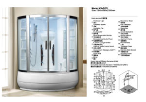 New Design Enclosed Corner Steam Room Shower Room (D531) pictures & photos