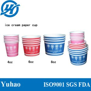 Colourful Paper Ice Cream Cups Disposable pictures & photos