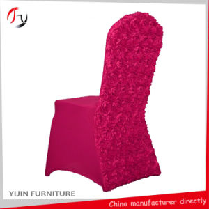 Spandex Rosette Wedding Seat Banquet Chair Cover (YT-01) pictures & photos