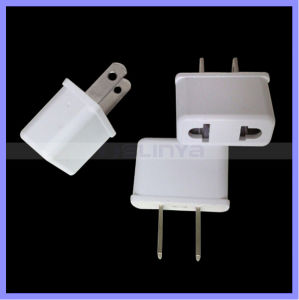 Universal Black White EU Au Us to USA Us 2 Pins Plug Adapter Converter pictures & photos