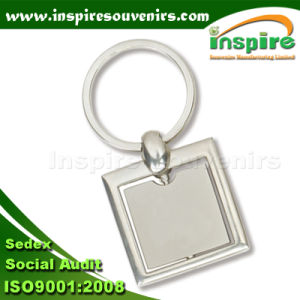 Zinc Alloy Square Keychain for Promotion Gift (K503) pictures & photos