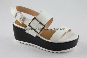 Pretty Open Toe Women Platform Sandal with Flat Heel pictures & photos