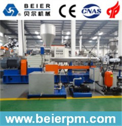 Plastic Masterbatch PE/PP/ABS Parrel Twin Screw Water-Ring Pelletizing/Compounding/Recycling/Granulating Extrusion Machine pictures & photos