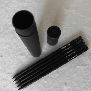 Wholesale Black Wooden Hb Pencil with Eraser (XL-02017) pictures & photos