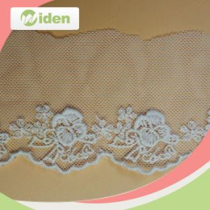 Steady Product Quality Delicate Pattern Lovely Nylon Net Embroidery Lace pictures & photos