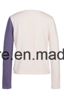 Lady Color Shading Long Sleeve Pure Cashmere Knitwear pictures & photos