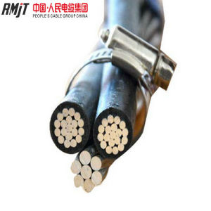 Al Conductor XLPE Insulated AAAC or ACSR Neutral Service Drop Duplex ABC Cable pictures & photos