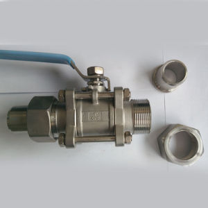 Three Piece Swing Butt Welding Stainless Steel Ball Valve pictures & photos