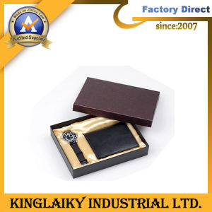 Fashion PU Wallet Watch in Gift Set for Promotion (GS-002) pictures & photos