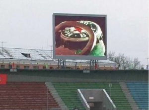 Stadium Perimeter P16 Outdoor Full Color LED Display (brightness 7500nits) pictures & photos