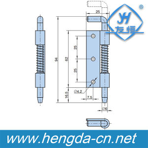 Industria Cabinet Stainless Spring Loaded Hinge (YH9342) pictures & photos