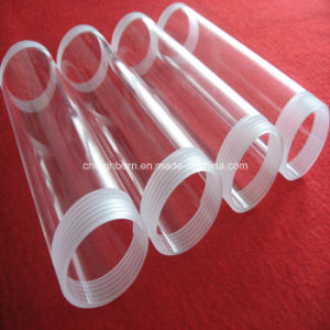 Clear Screw Thread Quartz Glass Tube Supplier pictures & photos