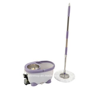 Hand Press Spin Mop with Steel Basket Bucket with Pedal (SL-S005)