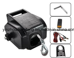 Hot Sell 2000lb Portable Electric Winch Boat Winch