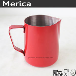 Stainless Steel Red Latte Art Milk Frothing Pitcher pictures & photos