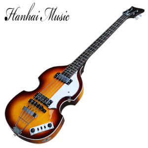 Hanhai Music/Tobacco Sunburst Electric Bass Guitar with 4 Strings pictures & photos