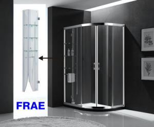 Simple Tempered Glass Shower Door with Glass Shelf Shower Enclosure Sanitary Ware pictures & photos