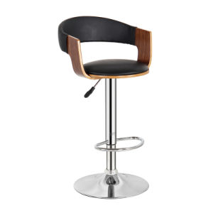Modern Restaurant Dining Furniture Swivel Wooden Bar Chair (FS-WB1935-1) pictures & photos