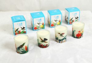 Screen Printing Glass Jar Luxury Candle pictures & photos