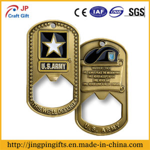 Zinc Alloy Military Metal Beer Bottle Opener with Soft Enamel Painting pictures & photos