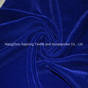 Royal Blue Woven Fabric Micro Velvet 9000 pictures & photos