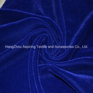 Royal Blue Woven Fabric Micro Velvet 9000 pictures & photos