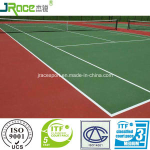 Factory Price Tennis Court Spu Sports Flooring with Itf Certificate pictures & photos