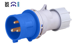 Industrial Plug (QJ-N013) of IP44 16A 2p+E Plastic PA66